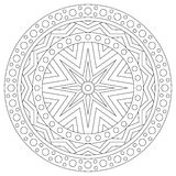 Black and white mandala coloring page for adults Stock Photo