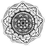Black and white mandala royalty free illustration