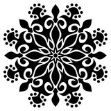 Black and white Mandala Illustration royalty free stock photo