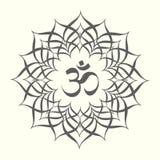 Mandala with omkara sign inside Royalty Free Stock Image