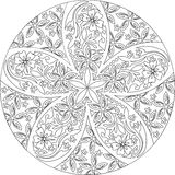 Black and white mandala Royalty Free Stock Photography