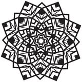Beautiful mandala pattern in black and white. Black and white mandala pattern, creative ornament the art for background or tattoo design royalty free stock photography
