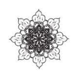 Black and white mandala pattern Stock Photography