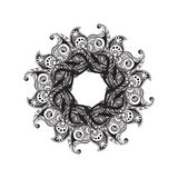 Black and white mandala pattern Royalty Free Stock Image