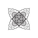 Black and white mandala pattern Stock Image