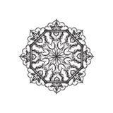Black and white mandala pattern Royalty Free Stock Photography