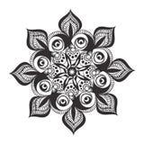 Black and white mandala pattern Stock Photos