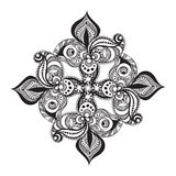 Black and white mandala pattern Royalty Free Stock Images