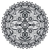 Black and white Mandala, tribal ethnic ornament Stock Image