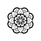 Black and white mandala Stock Photos