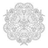 Black and white mandala. stock photos