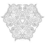 Black and white mandala. Royalty Free Stock Images