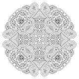 Black and white mandala. Royalty Free Stock Photo