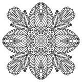 Black and white mandala. Royalty Free Stock Image