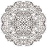 Black and white mandala. Stock Image