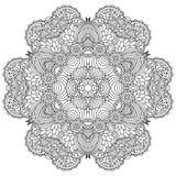 Black and white mandala. Royalty Free Stock Photography