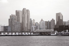 Black and white Manhattan Royalty Free Stock Image