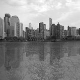 Black and white Manhattan Royalty Free Stock Photo