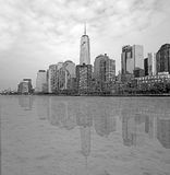 Black and white Manhattan Royalty Free Stock Photography