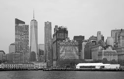 Black and white Manhattan Royalty Free Stock Photos