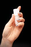 Black and white manicure royalty free stock photos
