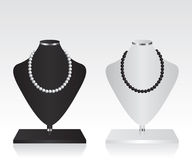 Black and white mannequin jewelry stand Stock Photography