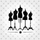 Black and white mannequins Royalty Free Stock Photos