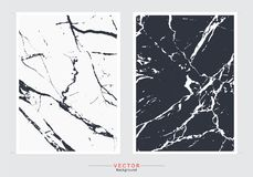 Black and white marble cover background, Vector set template royalty free illustration