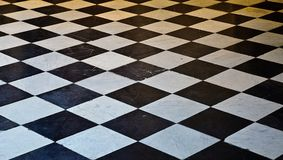 Black and White marble floor Royalty Free Stock Image