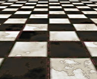 black and white marble floor Royalty Free Stock Photos