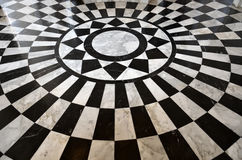 Black and White Marble Floor Pattern Stock Images