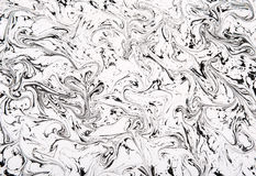 Black and White Marble Patterned Abstract Royalty Free Stock Images