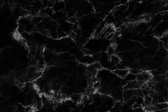 Black marble texture in natural patterned for background and design. Royalty Free Stock Images