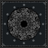 Black and white marine bandana square pattern design. Stock Images