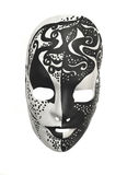 Black and white mask royalty free stock photography