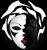black-white mask Stock Images
