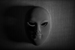 Black and White mask Royalty Free Stock Photos