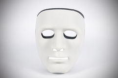 Black and white masks like human behavior, conception Stock Photo