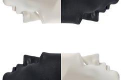 Black and white masks like human behavior, conception stock photo