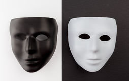 Black and white masks. Royalty Free Stock Photos