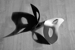 Black and white masks. With shadows Royalty Free Stock Images