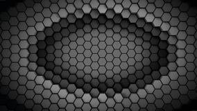 Black and white material hexagons background template. 3d Render. Illustration stock illustration