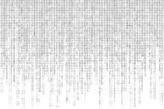 Black and white matrix with halftone style Stock Photo