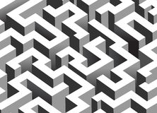 Black and white maze, labyrinth Stock Images