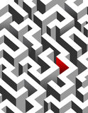 Black and white maze, labyrinth Royalty Free Stock Photo
