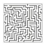 Black and white maze pattern vector illustration