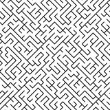 Black and white maze puzzle seamless pattern, vector. Background Stock Photo