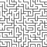 Black and white maze puzzle seamless pattern, vector. Background Royalty Free Stock Photography