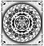 Black and white medallion Stock Image
