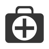 Black and white medical bag, vector graphic Stock Photography